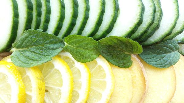 Zutaten für das Detox-Wasser